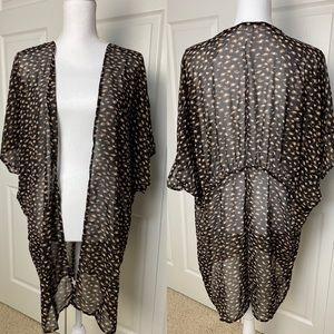 Maurices Sheer Cheetah Print Kimono